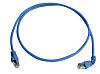 Telegartner Shielded Cat6a Cable Assembly 500mm, Blue, Male