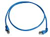 Telegartner Shielded Cat6a Cable Assembly 1m, Blue, Male