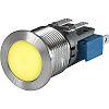 Push Button Touch Switch ,Illuminated, Yellow, IP40, IP67
