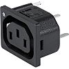 Schurter Snap-In IEC Connector Socket, 10.0A, 250.0 V