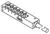 Molex, 120247 Series, M8 Junction Box, 3 Core