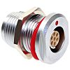 CAMDENBOSS Solder Circular Connector, 7 Contacts, Panel Mount,