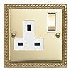 Contactum Gold 1 Gang Plug Socket, 2 Poles,