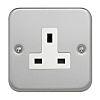 Contactum Grey 1 Gang Plug Socket, 2 Poles,