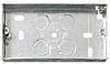 Contactum Silver Steel Back Box, BS Standard, Flush
