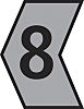 HellermannTyton Ovalgrip Slide On Cable Marker, Pre-printed 8