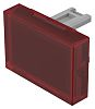 Red Rectangular Push Button Lens for use with