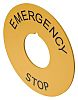EAO 61 Emergency Stop Plate for use with
