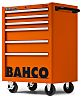 Bahco 6 drawer Stainless Steel (Top) WheeledTool Chest,