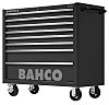Bahco 8 drawer Stainless Steel (Top) WheeledTool Chest,