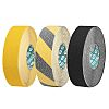 Advance Tapes Black, Yellow PVC 18m Hazard Tape,