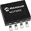 Microchip MCP3002-I/MS, 10 bit Serial ADC Pseudo Differential