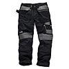 Scruffs 3D Trade Black Men's Fabric Trousers 32in,