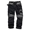 Scruffs 3D Trade Black Men's Fabric Trousers 30in,