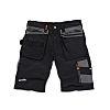 Scruffs Trade Black Men's Fabric Shorts Waist Size