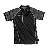 Scruffs Trade Active Black Fabric Polo, UK- XL,
