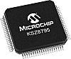 Microchip KSZ8795CLXCC Ethernet Switch IC, GMII/RGMII/MII/RMII,