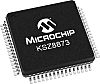 Microchip KSZ8873RLLI Ethernet Switch IC, RMII, 10/100Mbit/s 3.3