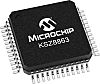 Microchip Technology KSZ8863FLLI, 3-Port Ethernet Switch IC,