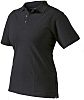 Dickies Black Women's Cotton, Polyester Short Sleeved Polo,
