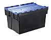 RS PRO 77L Blue PP Attached Lid Container,