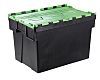 RS PRO 65L Green PP Attached Lid Container,
