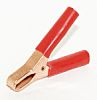 Mueller Electric Crocodile Clip, Copper Contact, 75A, Red