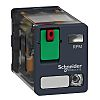 Schneider Electric DPDT Non-Latching Relay, 24V ac Coil,