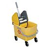 25L Plastic Yellow Mop Bucket With Handle