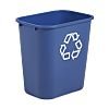 Rubbermaid Commercial Products Rubbermaid 27L Blue Polyethylene