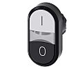 Siemens Black/White Push Button Head - Momentary, 3SU1