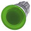 Siemens Illuminated Mushroom Green Push Button Head -