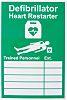 RS PRO Rigid Plastic, Defibrillator Heart Restarter-Text, English