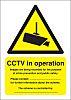 RS PRO Polypropylene Security Label, CCTV Sign, English,