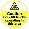 RS PRO Self-Adhesive Caution Hazard & Warning Label
