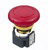Idec, Red, Pull or Turn, Push-to-Lock 40mm Mushroom