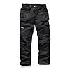 Scruffs Trade Black Men's Cotton, Polyester Trousers 34in
