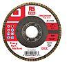 RS PRO Zirconium Dioxide Flap Disc, 125mm, P120
