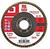 RS PRO Zirconium Dioxide Flap Disc, 125mm, P40