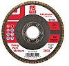 RS PRO Zirconium Dioxide Flap Disc, 115mm, P60