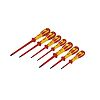 CK VDE Pozidriv, Slotted Screwdriver Set 7 Piece