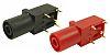 4mm PANEL SKT S16N-PC BLK-RED