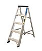 RS PRO Aluminium 6 steps Step Ladder, 1.26m