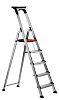 RS PRO Aluminium 5 steps Step Ladder, 1.041m