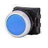 RS PRO Flush Blue Push Button Head -