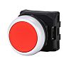 RS PRO Flush Red Push Button Head -