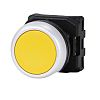 RS PRO Flush Yellow Push Button Head -