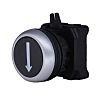 RS PRO Flush Black Push Button Head -