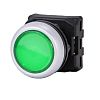 RS PRO Flush Green Push Button Head -