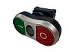 RS PRO Green, Red Push Button Head -